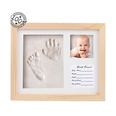 Fanme Baby Handprint and Footprint Picture Frame Boys Girls Shower Gifts Memo...