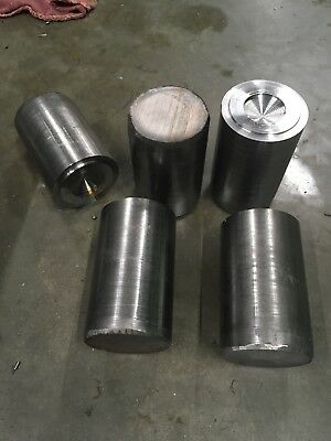 "2 1/2"" x3.75-4.75 long 12L14 Solid Steel Round Bar Stock Lathe Milling Machining"