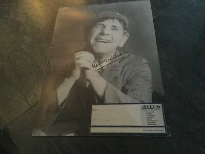 "THE LEGENDARY NORMAN WISDOM ""SIGNED"" Theatre Tour Programme 1990. FREEPOST"