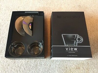 Set Of 2 Nespresso Cappuccino View Collection Cup And Saucer brand New