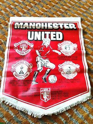 Vintage/Old Manchester United F.C. 1970s Football Pennant 'THE RED DEVILS'