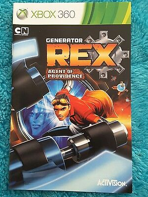 Generator Rex: Agent of Providence manual only (Xbox 360)