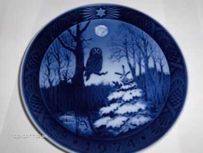Royal Copenhagen Owl Winter Twilight Plate 1974 Kai Lange