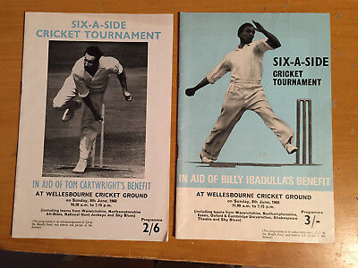 1968/69 Six a Side Cricket Tournament Progs Tom Cartwright & B Ibadulla benefits