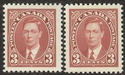 Stamp Canada # 233, 3¢, 1937, lot of 2 MNH Stamps.