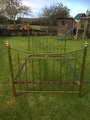 Beautiful Antique Brass Double Bed