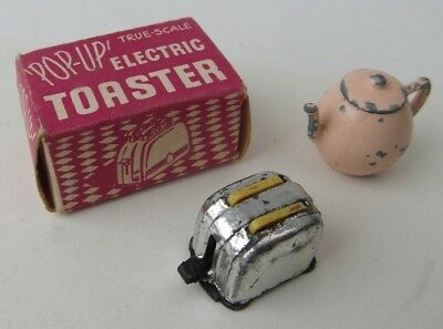 Vintage B+S Barrett and Sons Miniature Lead Pop-Up Electric Toaster Boxed 60s!!!