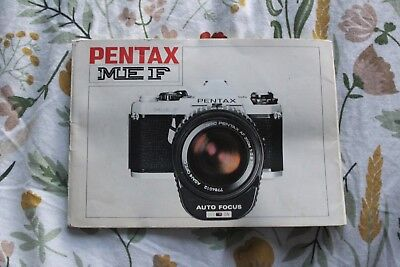 pentax me f 35mm slr camera user instruction manual guide rh picclick co uk pentax me user manual pentax me user manual pdf