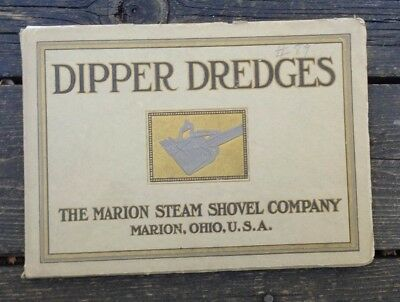 1908 Catalog Marion Steam Shovel Dipper Dredges Lots of Photos and Specs