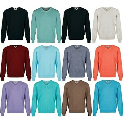 3c1a62866c3 MARKS & SPENCER Mens V Neck Jumper New M&S Pure Cotton Sweater ...
