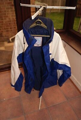 Mens Helly Hansen Blue/White Sailing Jacket - Size XL