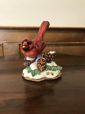 A Beautiful Red Cardinal Porcelain Figurine.