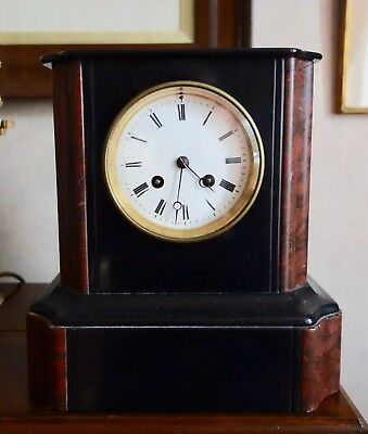 Victorian / Edwardian Marble Clock - Chiming