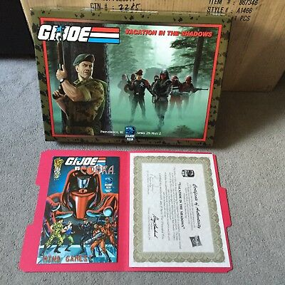 GI Joe Convention Exclusive Vacation in the Shadows Box & Paperwork