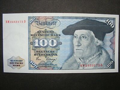 Germany Federal 100 mark P.34/d 1980 (1962) AU RARE! NICE NOTE!