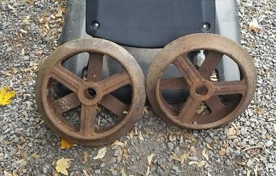 Large Heavy Industrial Cast Iron Wheels Home Decor Art Crafts Steampunk