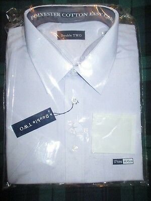 Double Two Dress Shirt In Lilac   New    17.5''