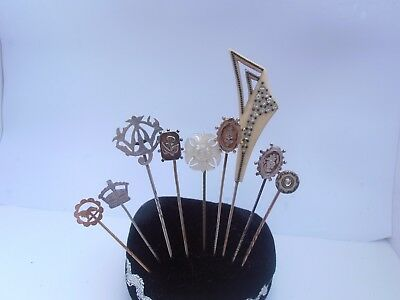 Collection Nice Good Antique Victorian & Later Stick Pins