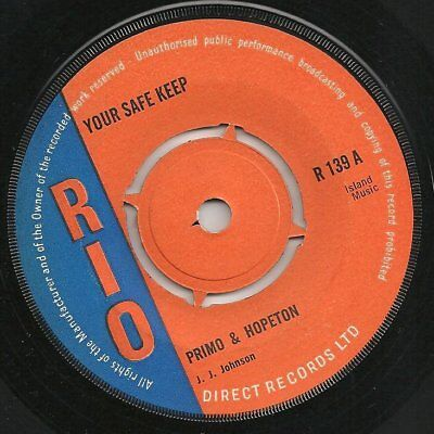 ♫ LISTEN rare, awesome rock steady PRIMO & HOPETON Your Safe Keep on  RIO R 139