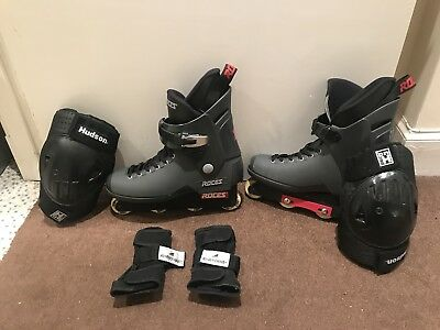 ROCES Majestic 13-Twelve 12 Aggressive Inline Skates UK 12 ... Eu 46 ..with pads
