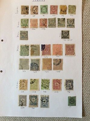 Turkey Early collection of 68 stamps