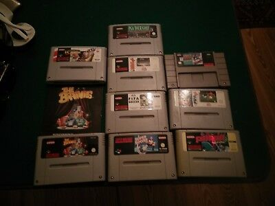 9 Super Nintendo Games wholesale lot SNES