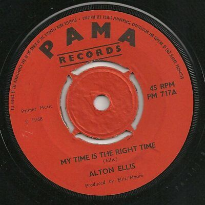 ♫ LISTEN - 1968 - superb ALTON ELLIS - My Time Is The Right Time on Pama PM 717