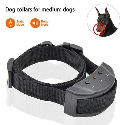 Anti Bark No Barking Training Collar Alarm Shock Control for Small Pet Dog US