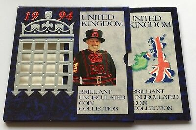 1994 Royal Mint Brilliant Uncirculated Coin Set Inc BoE £2 and D Day 50p