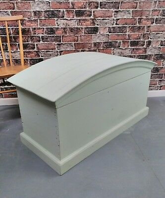 vintage farmhouse Victorian style solid pine dome trunk blanket storage chest
