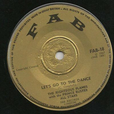 ♫ LISTEN - 1967 superb, moody rock steady LET'S GO TO THE DANCE on gold FAB 18