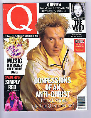 JOHN LYDON / SIMPLY RED	Q Magazine	NO.	66	March 1992