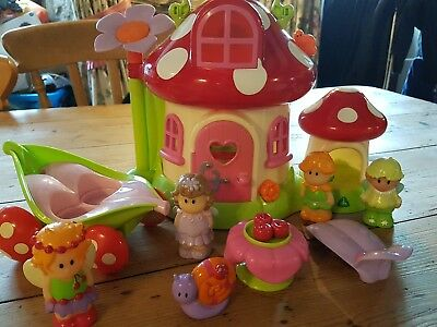 ELC happy land fairy toad stool house playset. includes figures