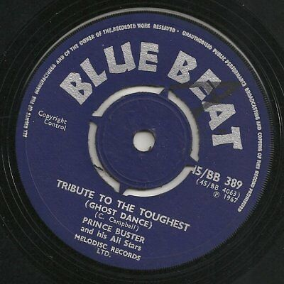 ♫ LISTEN - rock steady TRIBUTE TO THE TOUGHEST (Ghost Dance) BLUE BEAT BB 389