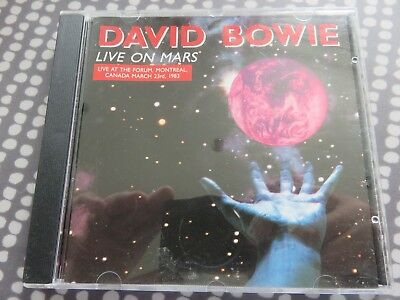 David Bowie - CD - Live on Mars - Montreal 1983 concert - Italy 1990 issue rare
