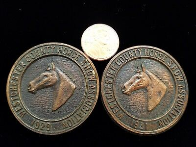 2 TWO Rare WESTCHESTER COUNTY Horse Show Association Tokens/Medallions