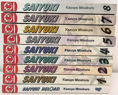 Saiyuki Manga Action Adventure Books Lot 9 Vol 1-8 Set+Saiyuki Reload 1 English