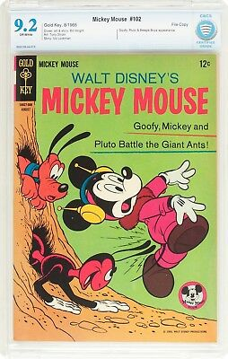 Mickey Mouse #102 File Copy (Gold Key, 1965) CBCS NM- 9.2 Off-white pages....