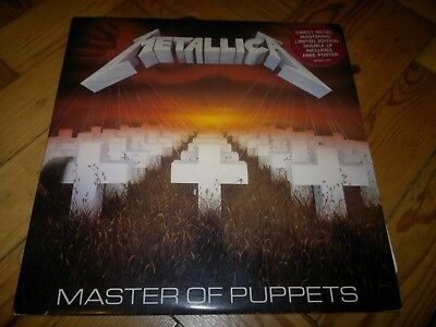"""Metallica - Master of Puppets double 12"""" vinyl MFN60, includes poster"""