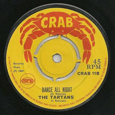 ♫ LISTEN - (not the Merritone song) DANCE ALL NIGHT - Tartans on CRAB 11 (1969)