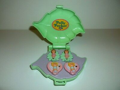Vintage  Polly Pocket 1991 Polly's Earring Case w/ Earrings 100% Complete Excell