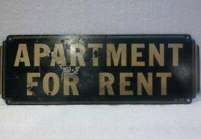 Old Vintage Apartment For Rent Metal Sign No 809 Industrial