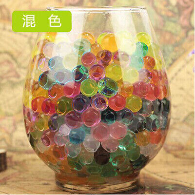 10 Bags Pearl Shaped Crystal Soil Water Beads Mud Grow Magic Balls [Mix color]