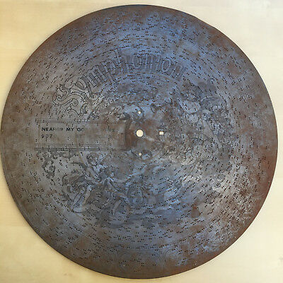 17 5/8 (45cm) Imperial Symphonion Music Box Disc.  Title:  Nearer My God to Thee