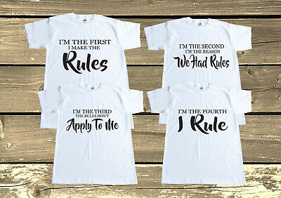 I Make The Rules Set T shirts,Sibling,Matching Brothers Sisters Outfits,Family