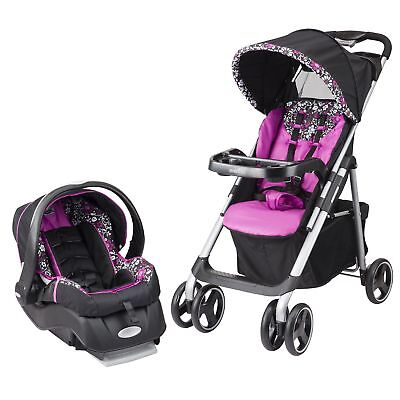 Car Seat Stroller Combo Infant Girl Baby Travel System Set Pink Universal New