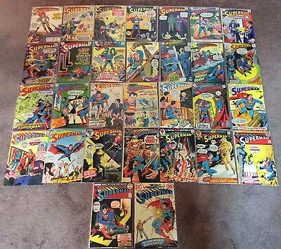 Superman Silver/ Bronze Age Lot! 30 Total! Cool Books! DC Comics 1963