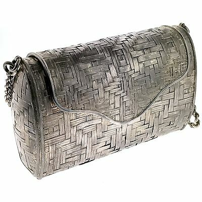 Mexico Sterling Silver Woven Evening Purse