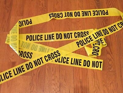 "Police Line Do Not Cross Tape 100 Feet 3"" Wide Crime Scene Csi Fbi"