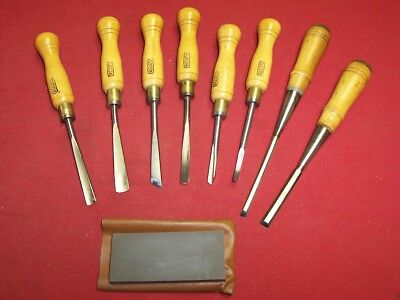 8 Nice Wood Carving Tools & Sharpening Stone